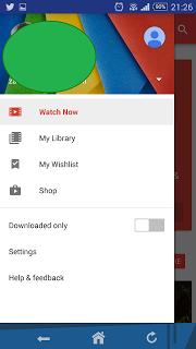 play movies and tv show menu