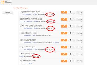 blog list menu