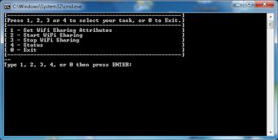 hosted network menu