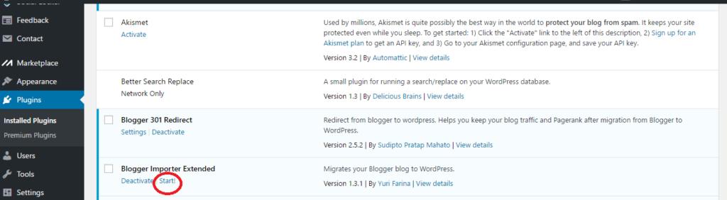 blogger importer extended