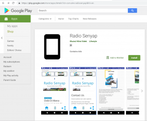 Google Play Radio Senyap